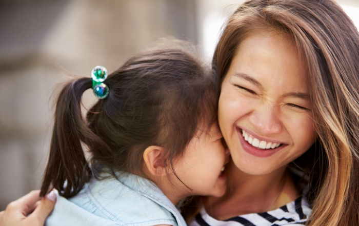 Outdoor Portrait Of Loving Mother And Daughter
